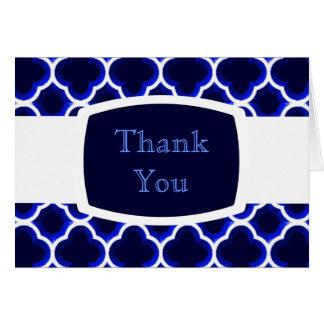 装飾されたモロッコの格子垣(濃紺) カード