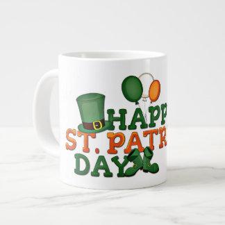 装飾される幸せなSt patricks day ジャンボコーヒーマグカップ