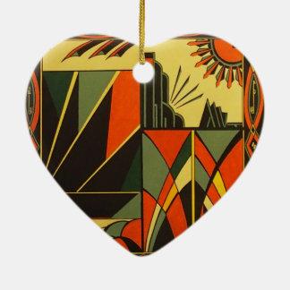 装飾をつるすアールデコの陶磁器のハート セラミックオーナメント