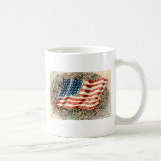 装飾日の米国旗1910年 コーヒーマグカップ