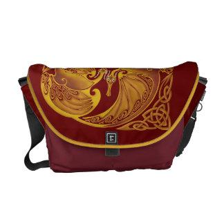 装飾用のケルト族のドラゴン メッセンジャーバッグ