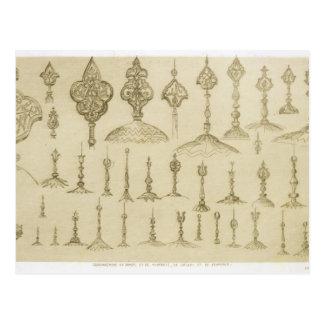 装飾用のノブはドームそして光塔として、のために形づきました ポストカード