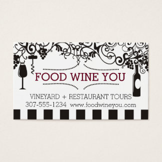 装飾用のワインチャームの食糧ワインのブドウ園 名刺