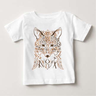 装飾用の種族のスタイルの孤のシルエット ベビーTシャツ