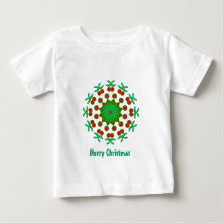 装飾用の赤いおよび緑プロダクト ベビーTシャツ