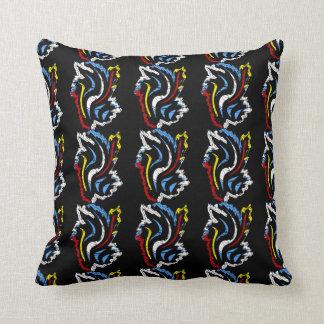 装飾用クッションの赤く青く黄色く黒いカスタム クッション