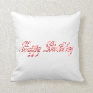 """装飾用クッション16"""" x 16"""" happyBIRTHDAYの誕生日 クッション"""