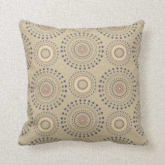 装飾用クッション- Bohoの円形浮彫り(日焼け) クッション