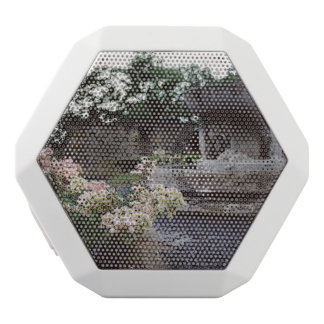 装飾用庭、バラおよび噴水 ホワイトBluetoothスピーカー