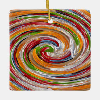 装飾的でフルーツのような回転の波パターン セラミックオーナメント