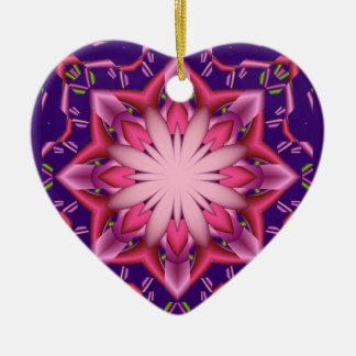 装飾的で抽象的なオーナメントのピンクの星 セラミックオーナメント