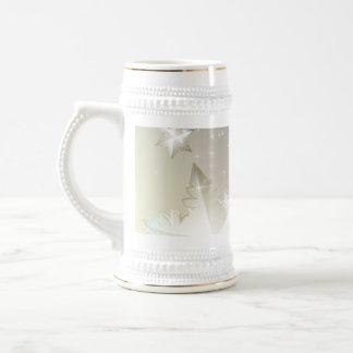 装飾的で抽象的な冬のマグの設計 ビールジョッキ