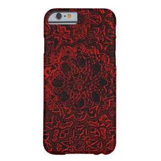 装飾的で赤い鬼のはす曼荼羅のiPhone Barely There iPhone 6 ケース