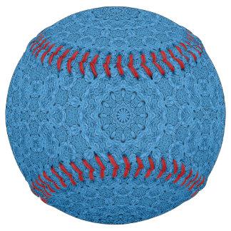 装飾的で   青いヴィンテージの万華鏡のように千変万化するパターンのソフトボール ソフトボール