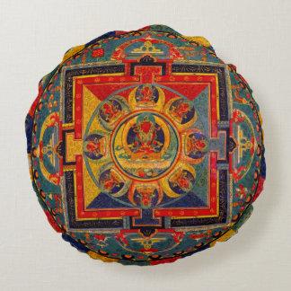 装飾的なインディの芸術の曼荼羅 ラウンドクッション