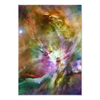 装飾的なオリオンの星雲の銀河系の宇宙の写真 カード