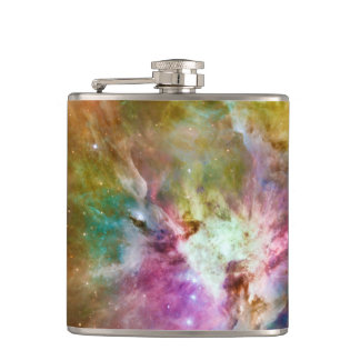 装飾的なオリオンの星雲の銀河系の宇宙の写真 フラスク