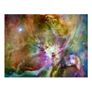 装飾的なオリオンの星雲の銀河系の宇宙の写真 ポストカード