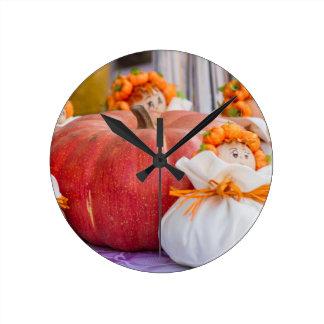 装飾的なカボチャ ラウンド壁時計
