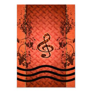 装飾的なクレフ、音符記号 カード