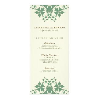 装飾的なスタンプの結婚披露宴メニュー(賢人) カード