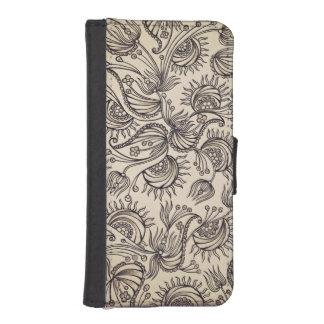 装飾的なパターンウォレットケース iPhoneSE/5/5sウォレットケース