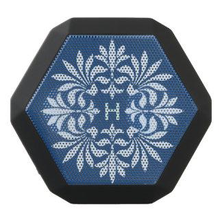 装飾的なモノグラムの華麗さの華美なヴィンテージ ブラックBluetoothスピーカー