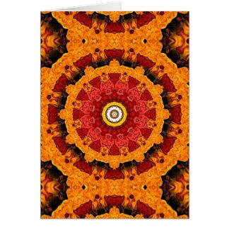 装飾的な切れのオレンジ カード