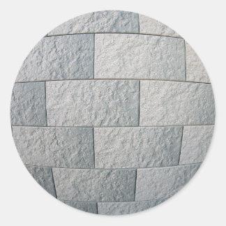 装飾的な壁の片 丸形シールステッカー