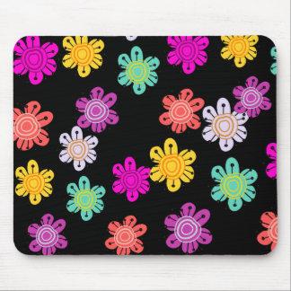 装飾的な多彩の花 マウスパッド