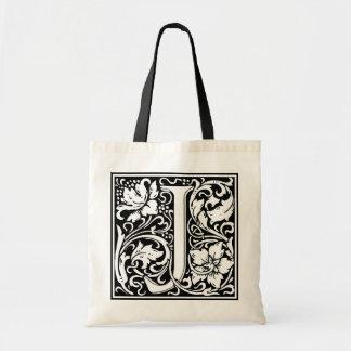 """装飾的な手紙のイニシャル""""J"""" トートバッグ"""
