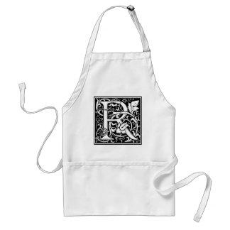 """装飾的な手紙のイニシャル""""R"""" スタンダードエプロン"""