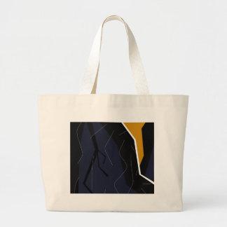 装飾的な抽象美術 ラージトートバッグ