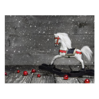 装飾的な揺り木馬 ポストカード