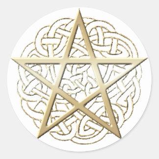 装飾的な星形五角形のステッカー ラウンドシール