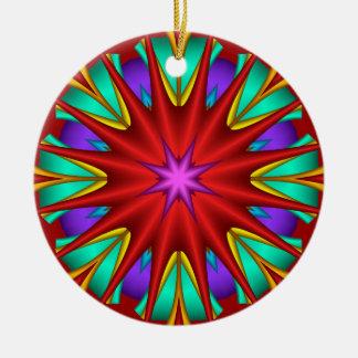 装飾的な星明かりのフラクタルのクリスマスのオーナメント セラミックオーナメント