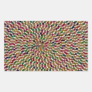 装飾的な波のテンプレートDIYは文字のイメージのギフトを加えます 長方形シール
