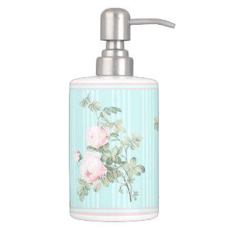装飾的な浴室の一定のぼろぼろの上品のばら色の真新しいピンク バスセット