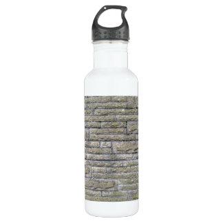 装飾的な石塀の終わり ウォーターボトル