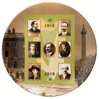 装飾的な磁器皿のためのアイルランドの英雄のイメージ 磁器プレート
