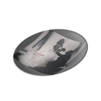 装飾的な磁器皿: 結婚式シリーズ 磁器プレート
