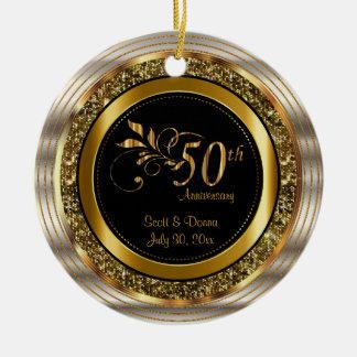 装飾的な第50金記念日 セラミックオーナメント