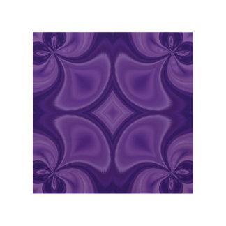 装飾的な紫色の木製パターン ウッドウォールアート