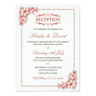 装飾的な結婚披露宴の招待状 カード