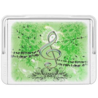 装飾的な緑のクレフ、音符記号 IGLOOクーラーボックス
