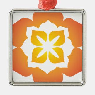 装飾的な花のデザイン メタルオーナメント