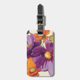装飾的な花 ラゲッジタグ