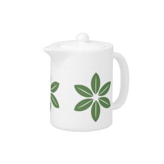 装飾的な葉の芸術の茶ポット