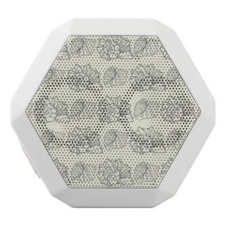 装飾的な貝パターン ホワイトBluetoothスピーカー