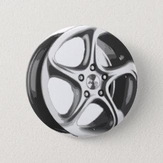 装飾的な車の縁 缶バッジ